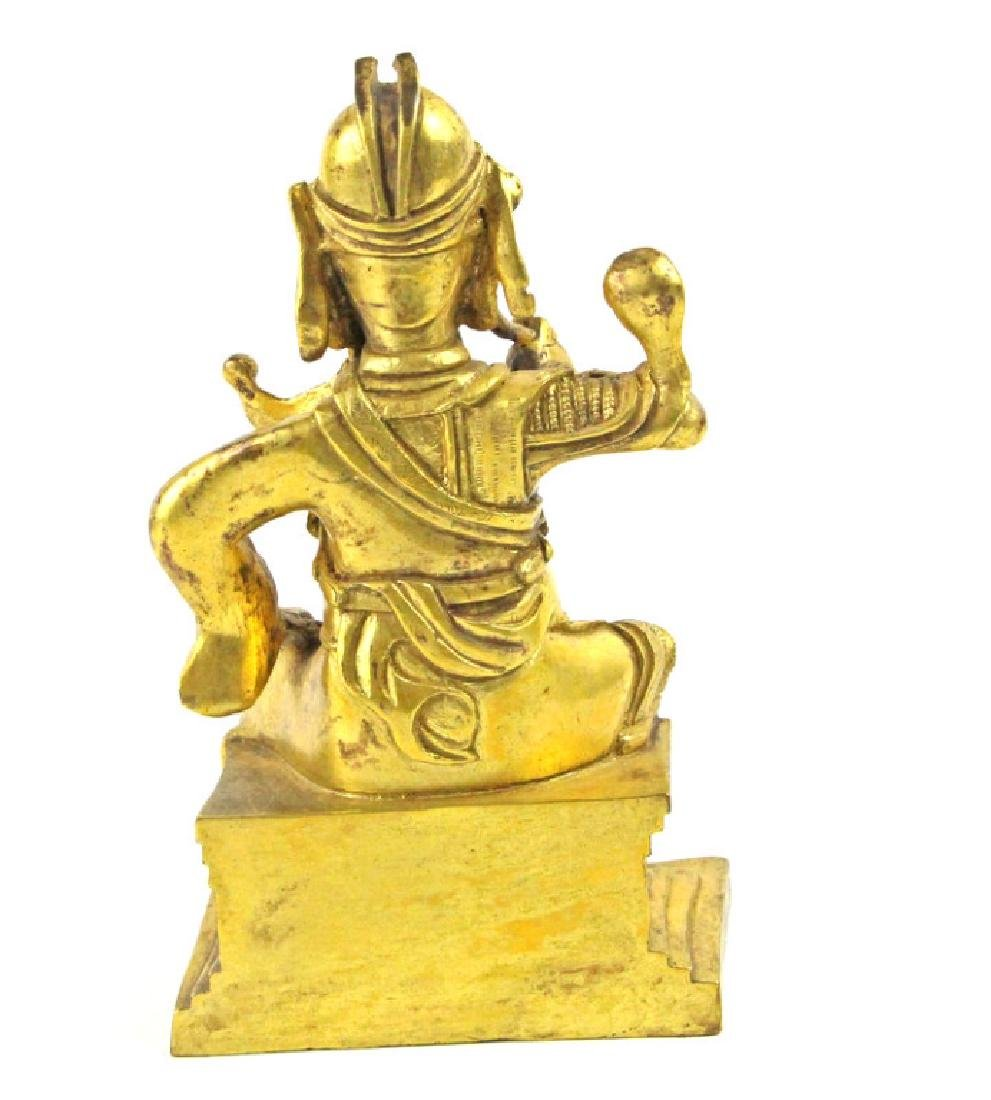 Chinese Bronze The God of wealth of Guan Gong - 3