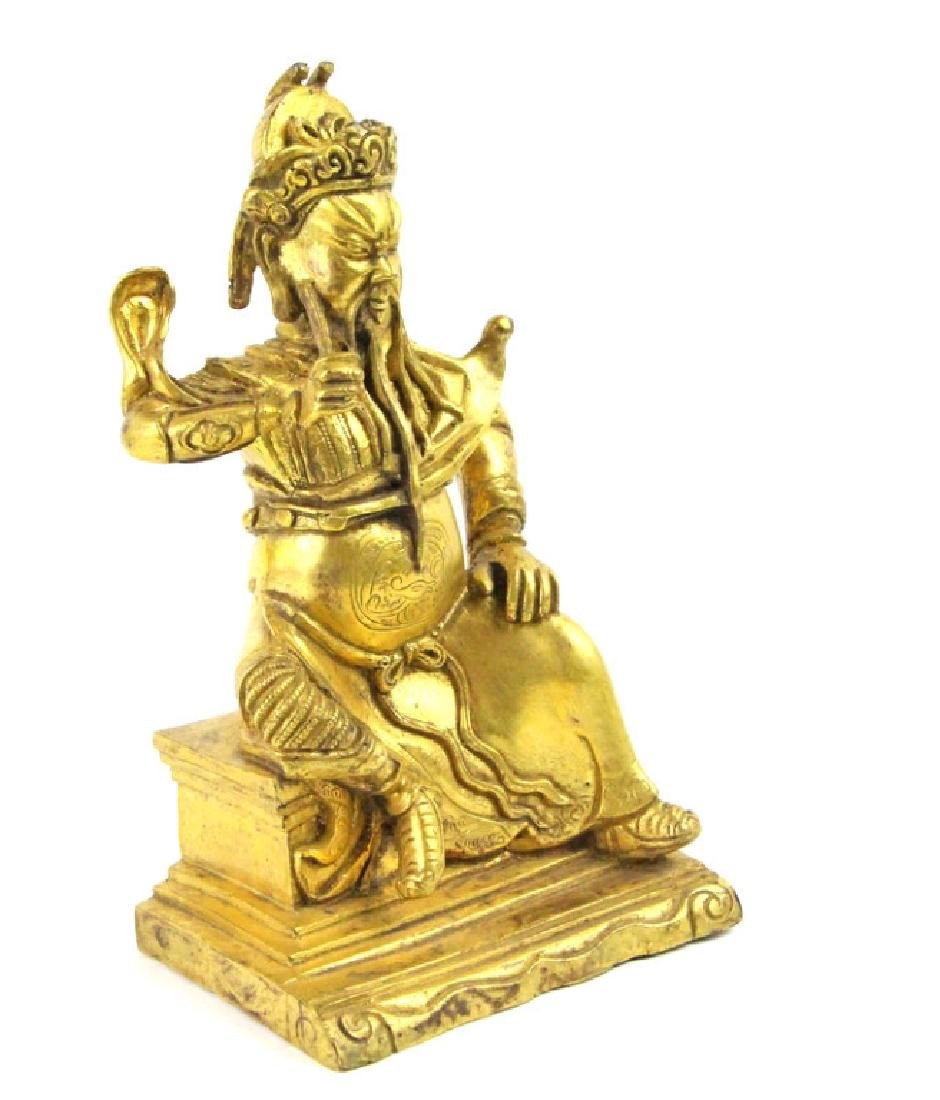 Chinese Bronze The God of wealth of Guan Gong - 4