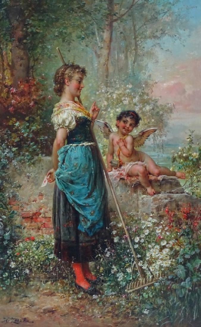 """Hans Zatzka (AUSTRIAN, 1859–1945) """"Der Libesbrief"""""""