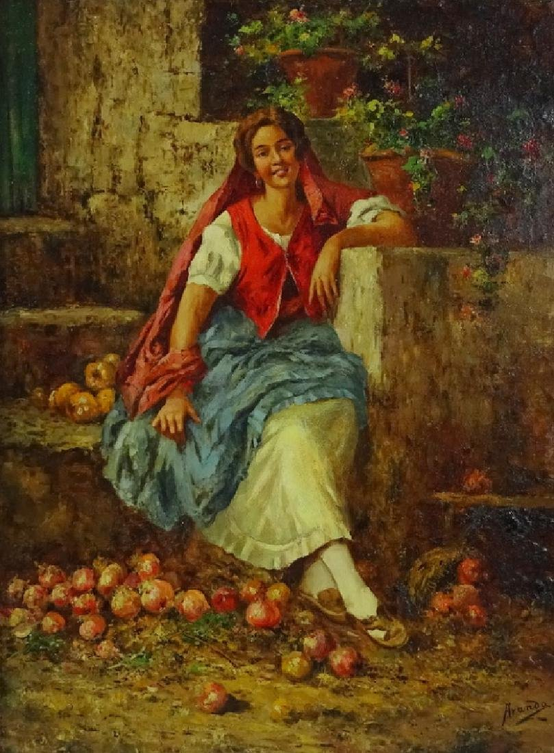 Manuel Jimenez Prieto (1848-1904) Oil Painting