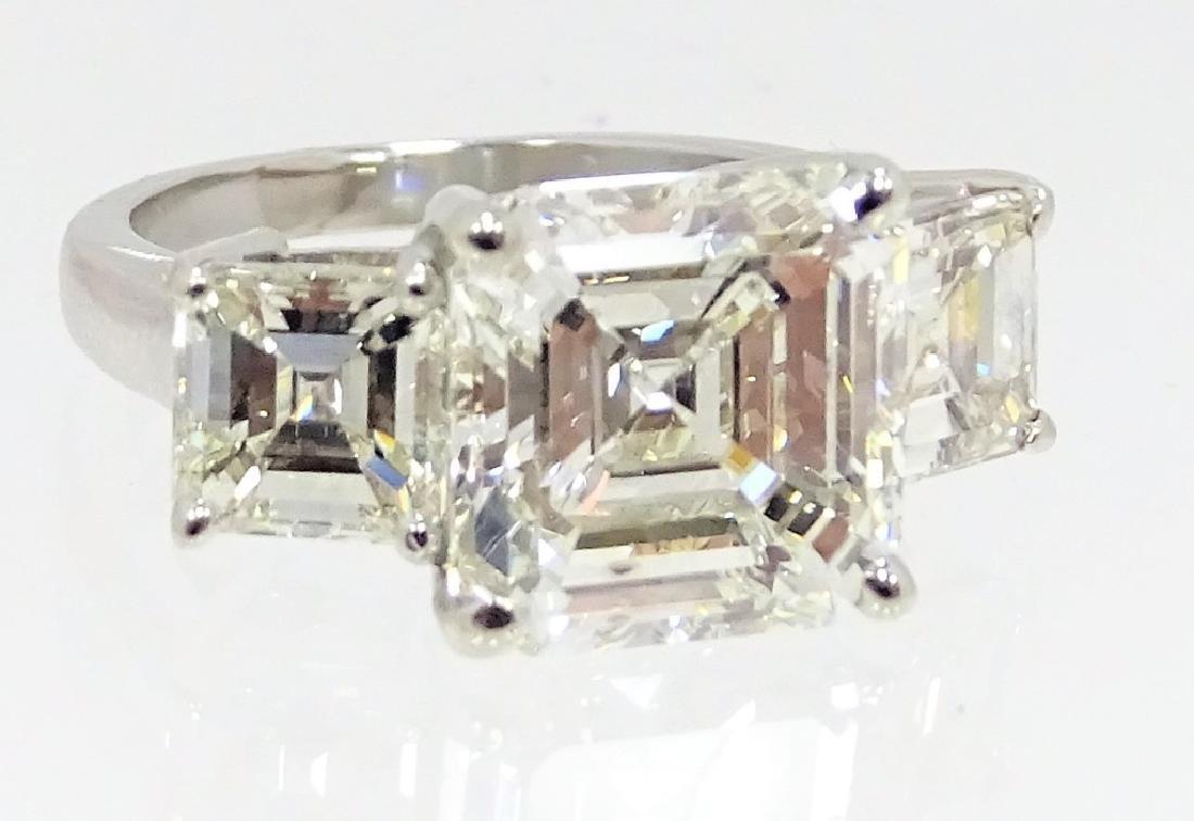 GIA Certified 5.77ct K/SI Emerald Cut Diamond - 4