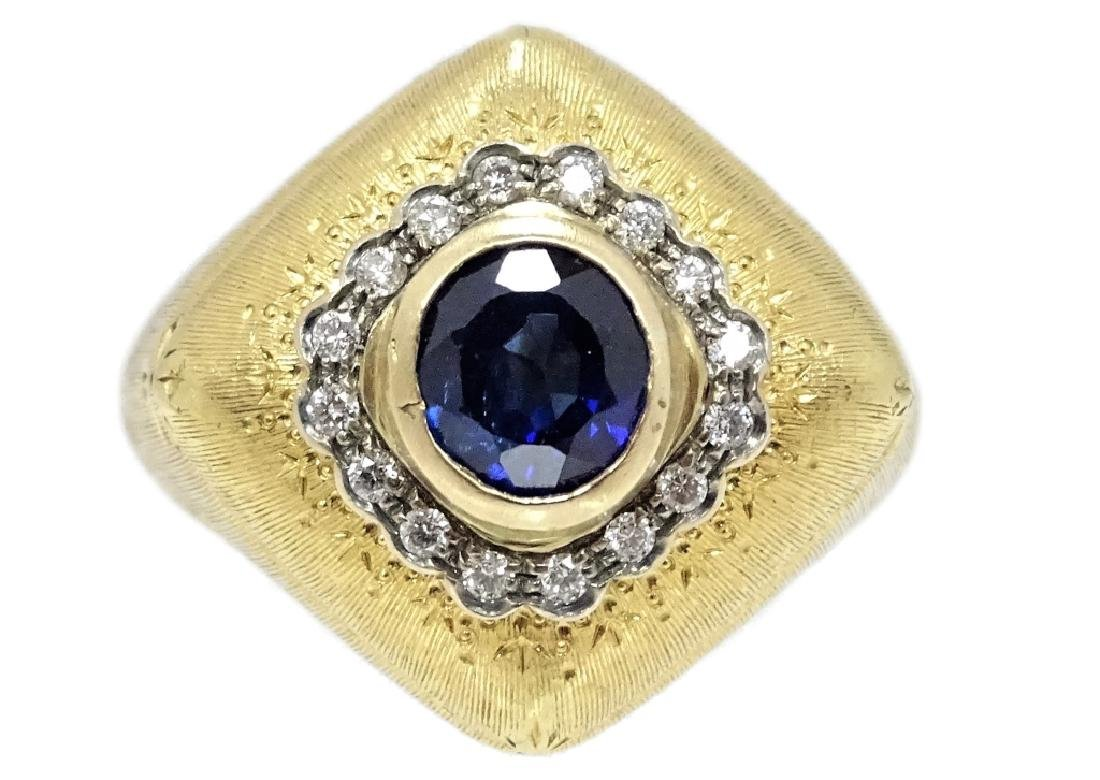 Mario Buccellati Sapphire And Diamond Ring