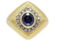 Mario Buccellati Sapphire And Diamond Ring