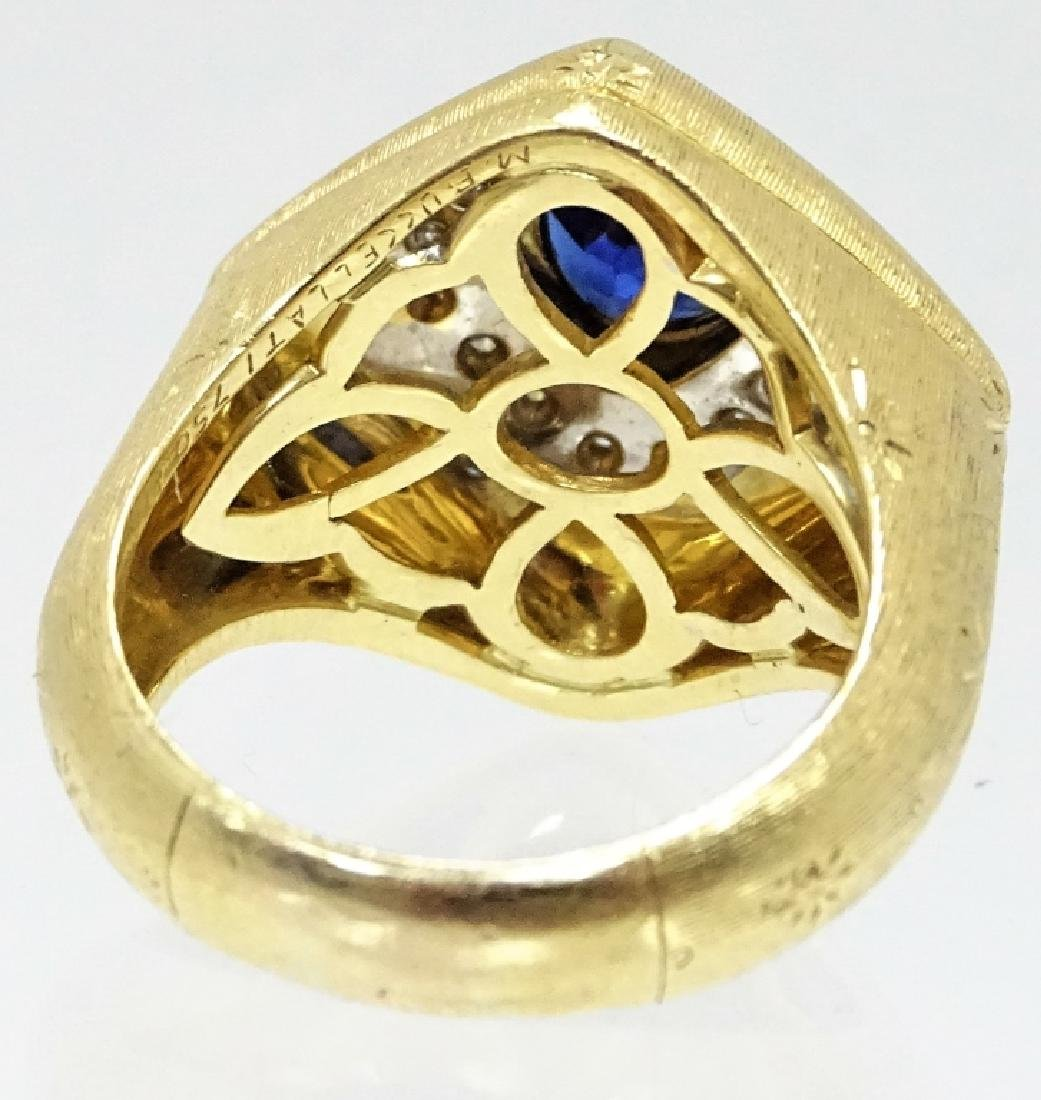 Mario Buccellati Sapphire And Diamond Ring - 2