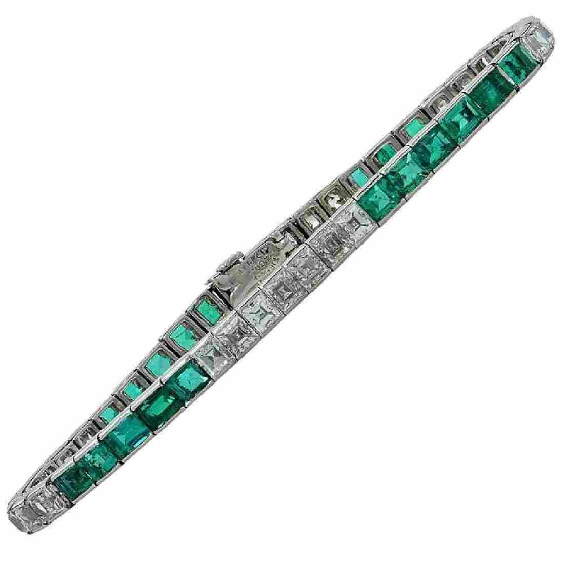 1950s Tiffany & Co. Diamond Platinum Line Bracelet
