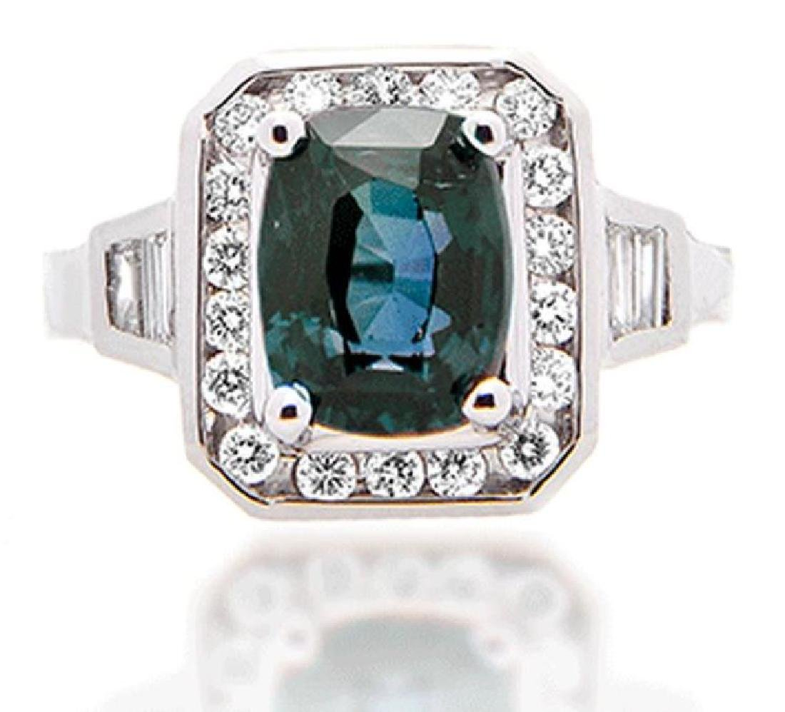 3.16ct ALEXANDRITE RING DIAMONDS AGTA CERT.