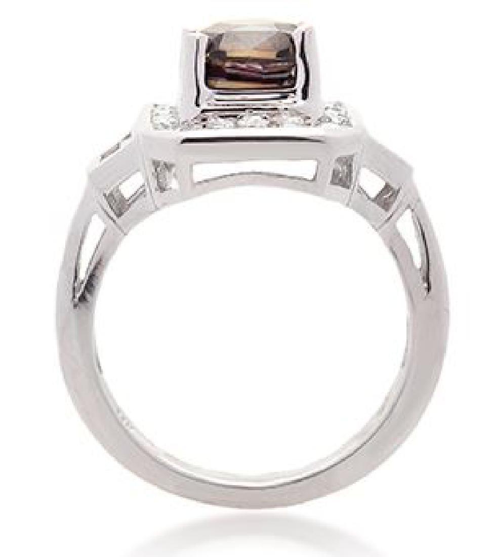 3.16ct ALEXANDRITE RING DIAMONDS AGTA CERT. - 3