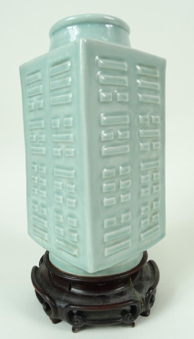 Chinese celadon porcelain Vase, Antique. - 2
