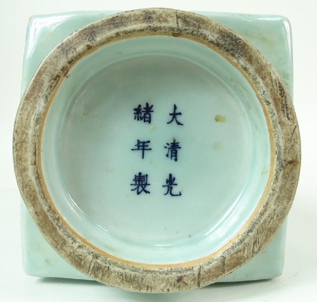 Chinese celadon porcelain Vase, Antique. - 3