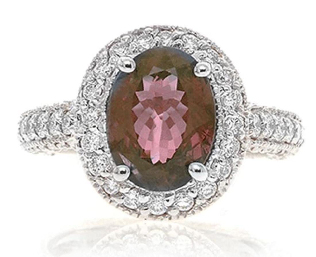 3.21ct ALEXANDRITE RING DIAMONDS C.DUNAIGRE CERT.