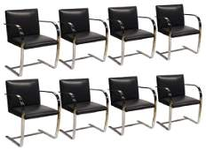 Set of 8 BRNO Chairs Mies Van Der Rohe For Knoll