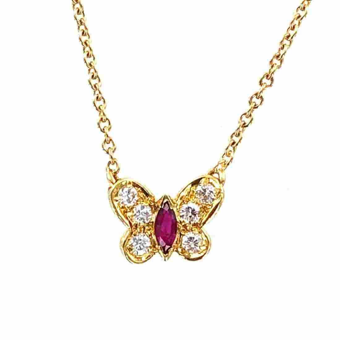 Van Cleef Arpels Arpels Diamond Butterfly Necklace