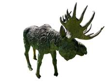 LIFESIZE Bronze Moose outdoor sculpture