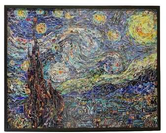 Vik Muniz Starry Night, Afer Van Gogh Digital