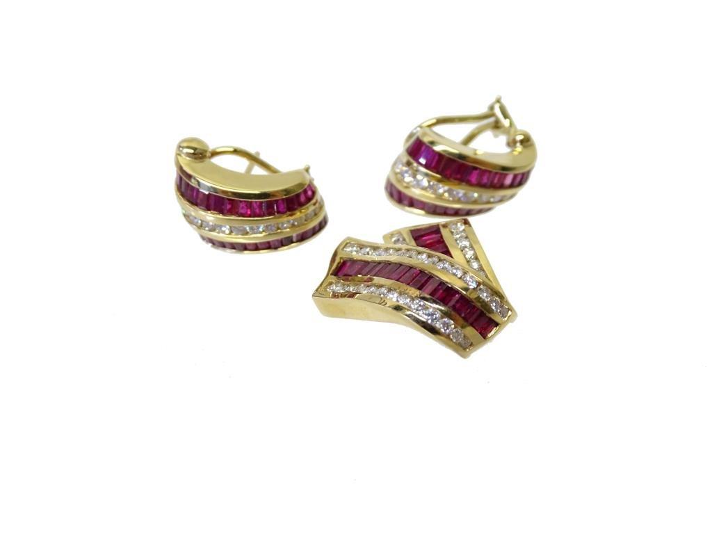 Ruby, Diamond & Yellow Gold Jewerly, Krypell