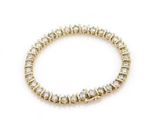 825ct Diamond 14k Gold Bar Link Tennis Bracelet