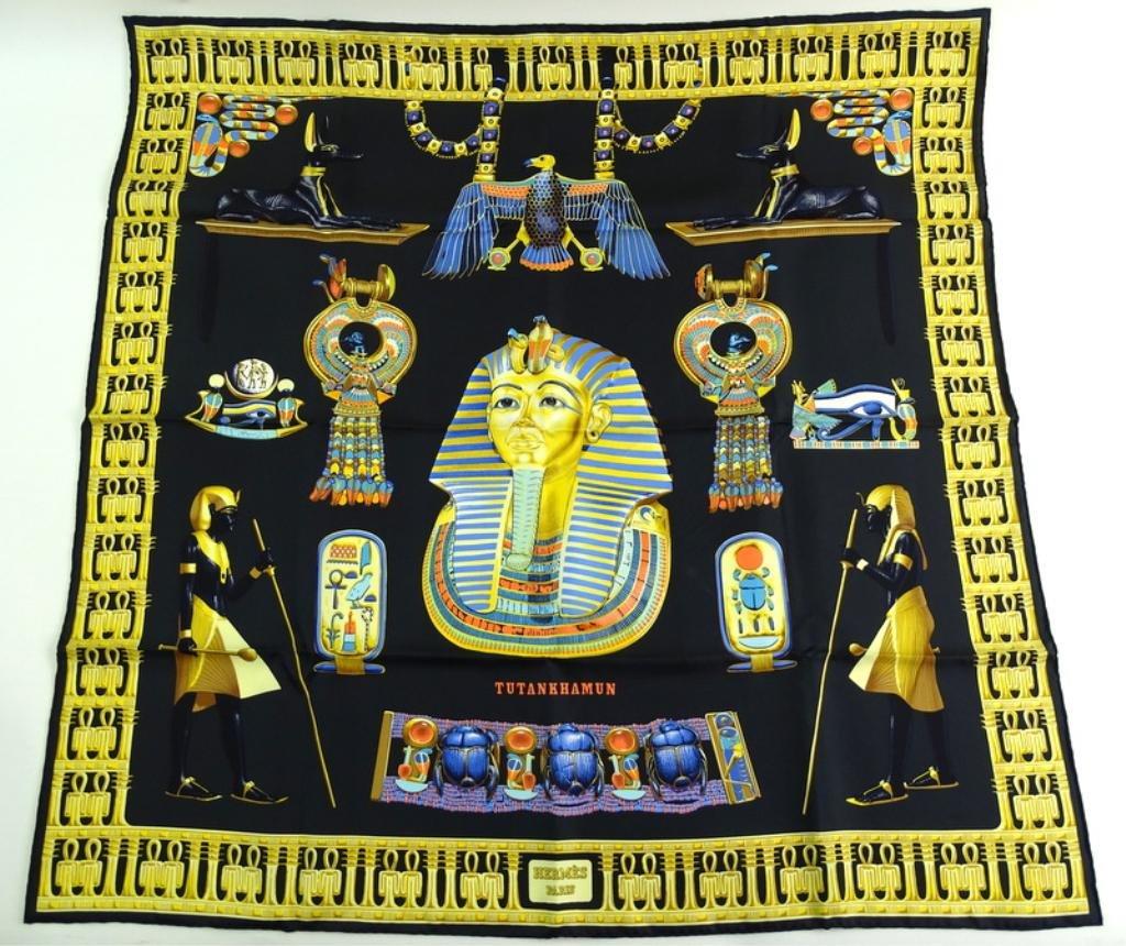 """Hermes """"Tutankhamun""""; Silk Scarf by V.Rybaltchenko"""