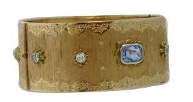 Mario Buccellati No - Heat Sapphire Cuff Bracelet