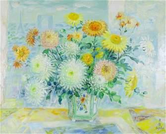 "Le Pho (FRENCH-VIETNAMESE, b. 1907-2001) ""Fleurs"""