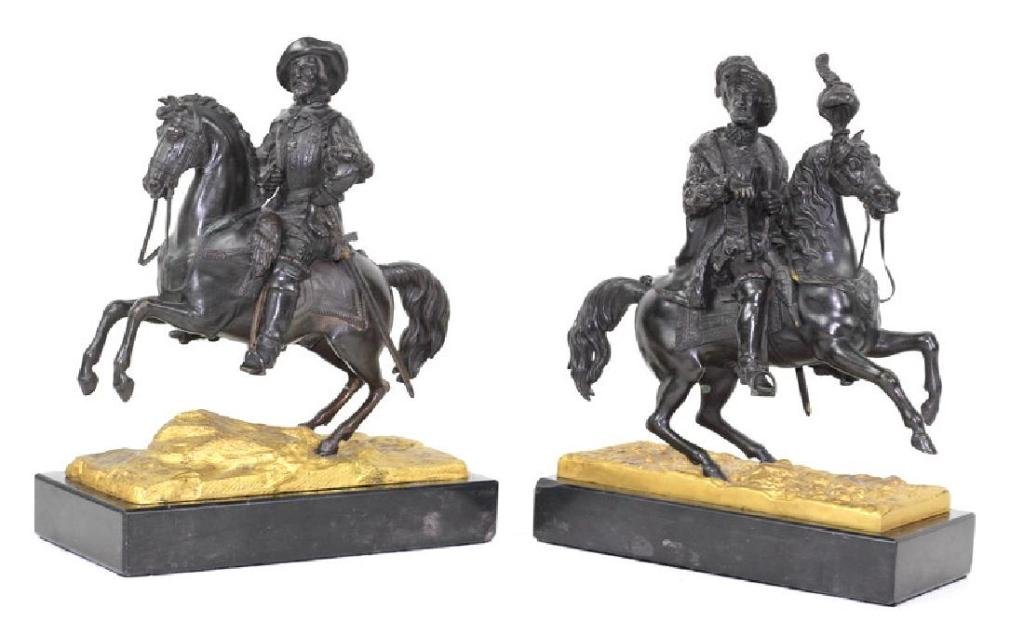 Pair of French Bronze Sculptures