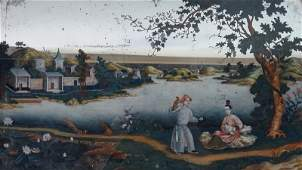 Early Chinese Export Painting on glass