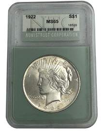 1922 Peace Dollar Silver Coin