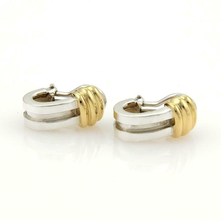 Tiffany & Co. ATLAS 18k Gold Grooved Earrings