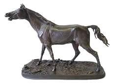After PJ Mene Bronze Horse Sculpture