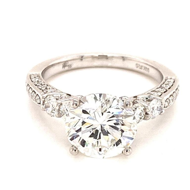 Brilliant Diamond Engagement Ring GIA Certified