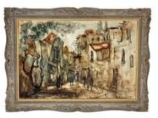 "Zvi Raphaeli (ISRAELI, 1920–2005) ""Village"""