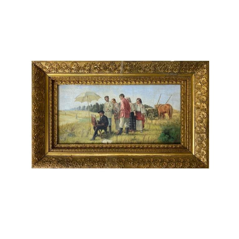 """Narkiz N. Bunin (RUSSIAN, 1856–1912) """"The Viewing"""""""