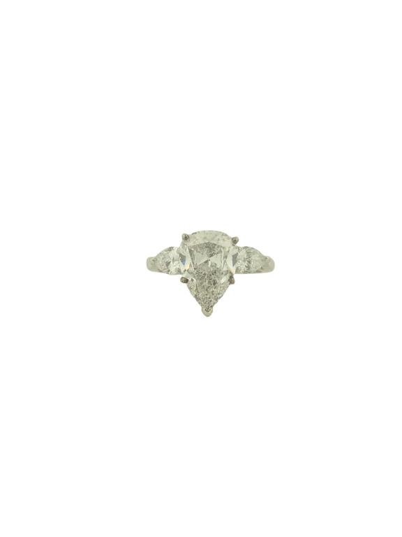 GIA Certified 4.02ct E/SI2 Engagement Ring