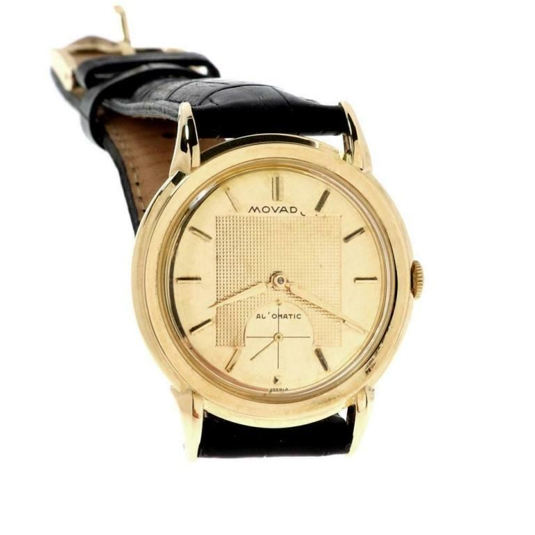 Movado Automatic Cal.115 18k Gold Watch