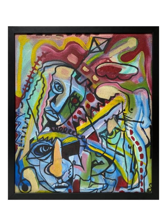 """Unknown, Artist """"Abstracted Faces"""""""