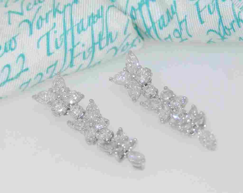 Tiffany & Co 4.25ct Drop Earrings Retail $41,000+