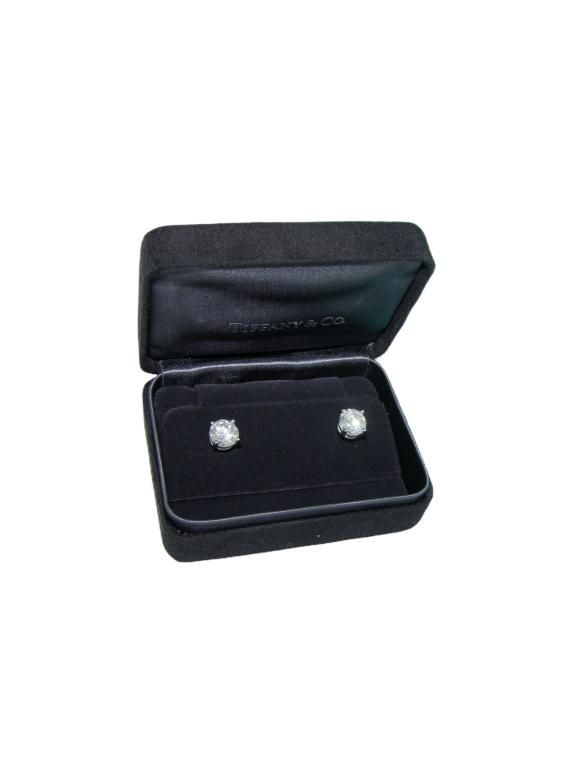 Tiffany & Co 4.15ct Diamond Studs Retail $275,000