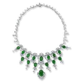 OVAL EMERALD NECKLACE