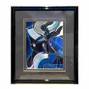 "M. Martiros ""Abstract I"". Signed. Acrylic on board."