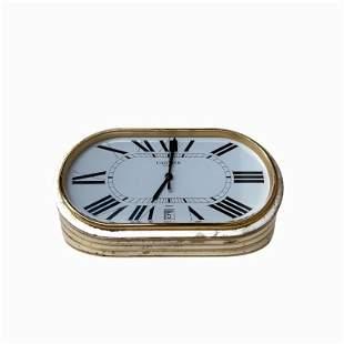 Cartier Paris Quartz Desk Clock. Swiss Made. Glass