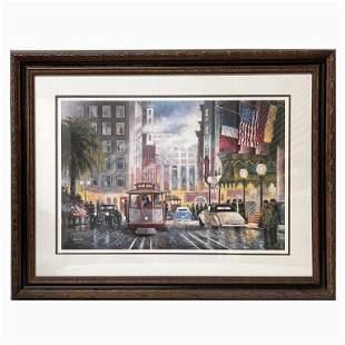 "John Kelly ""Union Square - San Francisco"" Signed."