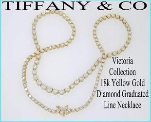 Tiffany & Co Victoria 18k Yellow Gold Diamond Graduated