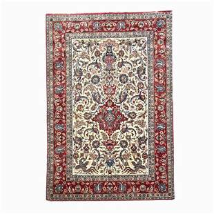 Large Handmade Persian Rug. Measures 128 inches high x