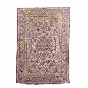 Medium Handmade Persian Rug. Measures 92 inches high x