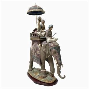 "Lladro Porcelain ""Road to Mandalay†Sculpture"