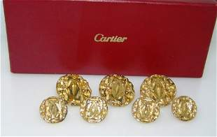 Vintage Cartier Sterling Silver Dress Button Set