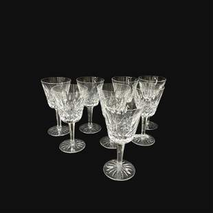 (8) Eight Waterford Wine Glasses