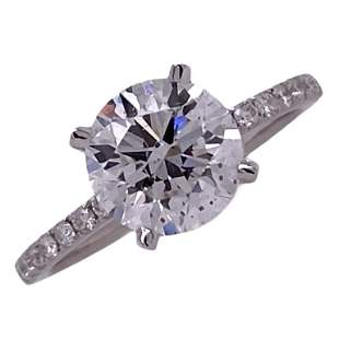 2.00 Carat Diamond 18 Karat White Gold Ring