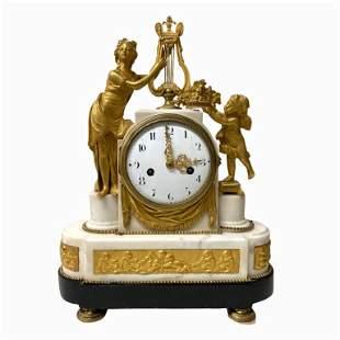 Empire Style Antique Ormulo French Mantel Clock