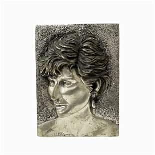 Princess Diana Sterling Silver Plaque