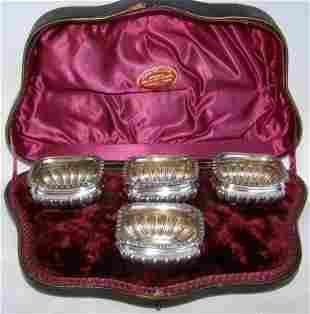 Victorian Set of Four Silver Salt Cellars